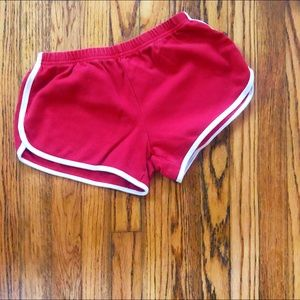 Red American Apparel Shorts